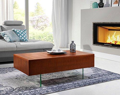 Hochwertiger Design Couchtisch Tisch MN-5 Kirschbaum 2 Schubladen