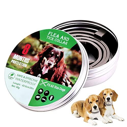YIDE Collare Antipulci per Cane Oltre 8kg,63cm Collare Antizecche per Gatti e Cani Regolabile Impermeabile,Prevenzione efficace per 8 mesi