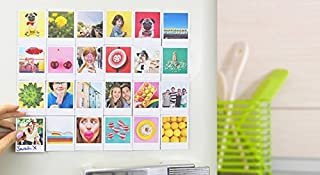 MFM TOYS XOXOMags Set of 3 Retro Polaroid Prints Style Photo Fridge Magnet with a Message - Turn your photos into beautiful Photo Magnet Personalised Printed Magnets