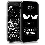 kwmobile Samsung Galaxy A5 (2017) Hülle - Handyhülle für Samsung Galaxy A5 (2017) - Handy Case in Don't Touch My Phone Design Weiß Schwarz