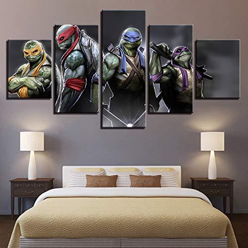 OYBB Drucke auf Leinwand Drucke Kunst Bild Poster Nein, gerahmt Home Küche Dekorative Malerei Ninja Turtles Inkjet Fünf Zauber 20X35Cmx2 20X45Cmx2 20X55Cmx1