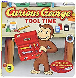 Curious George tool time board book for kids