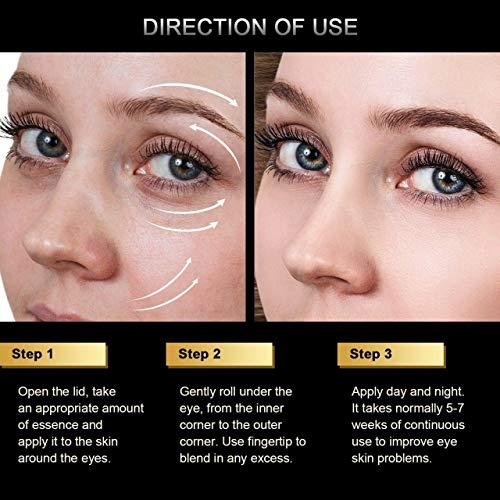 51pstT6Y 8L - Eye Serum & Eye Roller for Anti Aging Dark Circles Puffiness Under Eye Bags Wrinkles Eye Cream Massager with Peptide Hyaluronic Acid Niacinamide 0.7 fl.oz by beaueli