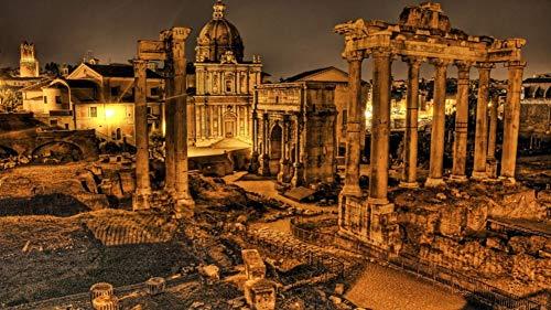 HCYEFG Rompecabezas 1000 Piezas para Adultos Adultos Ruinas de Roma Historia de la Foto DIY Art Puzzle