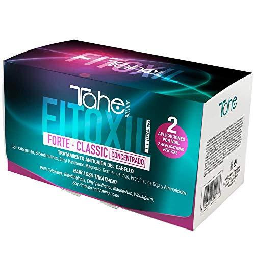 Tahe Fitoxil Forte Classic Tratamiento Concentrado Anticaída del Cabello para Hombre o Mujer sin Parabenos, 6 x 10 ml