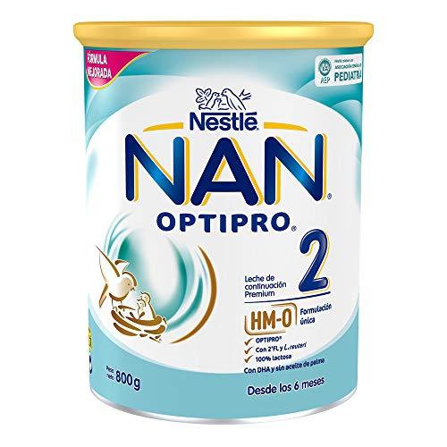 NAN OPTIPRO 2 - Leche de continuación en polvo, fórmula para bebé, a partir de los 6 meses, 800g