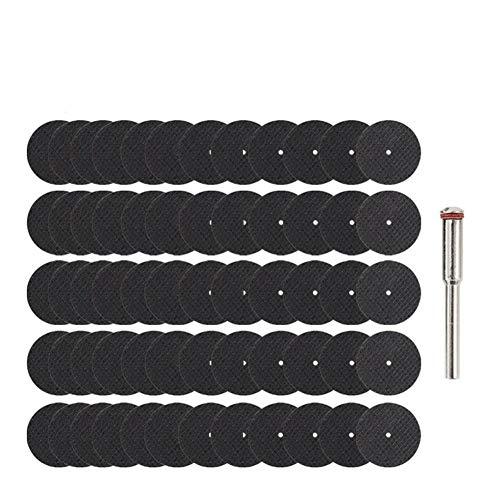 60pcs abrasivo Discos de corte Con 1pc Mandril Cut Off ruedas circulares hoja de sierra rotativa metal lijado Muela Cortar la ruleta
