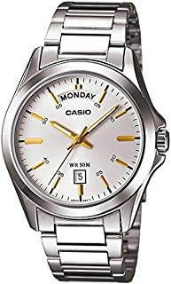 Casio Men's Silver Dial Stainless Steel Band Watch