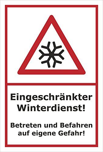 Melis Folienwerkstatt Schild Eingeschränkter Winterdienst - 30x20cm - Bohrlöcher - 3mm Hartschaum – 20 VAR S00018-038-B