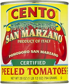 Cento San Marzano Organic Peeled Tomatoes, 28 Ounce (Pack of 4)