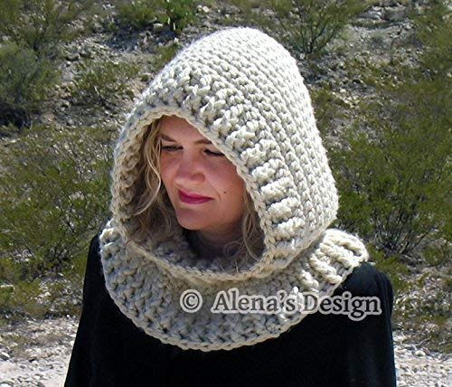 Hooded Cowl with Flower Crochet Hooded Cowl Toddler Children Girls Cowl Women Cowl Ladies Winter Neck Warmer Adult Crocheted Hood Handmade Cowl Made in USA