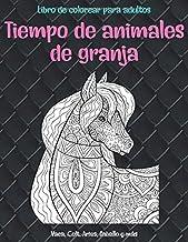 Tiempo de animales de granja - Libro de colorear para adultos - Vaca, Сolt, Aries, Caballo y más  🐰 🐎 🐷 🐮 🐴 🐑 🐔