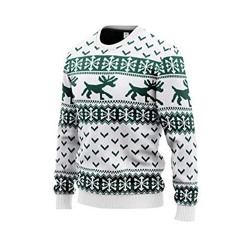 JAP Weihnachtspullover - Hipster Rentier - Perfekte Passform ohne Jucken - 507-L