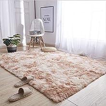 Alfombras ultra suaves para interiores, interiores y suaves Alfombras de sala de estar aptas para niños Dormitorio Decoración para el hogar Alfombras de dormitorio 60 * 120 cm (Gradiente de camello)