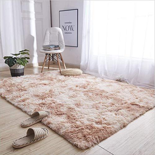 NC Tappeti Zona Moderna Ultra Morbida Soffici tappeti Soggiorno Adatto per Bambini Camera da Letto Home Decor Nursery Tappeti 60 * 120 cm (Gradiente di Cammello)