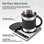 Cosori-Coffee-Mug-Warmer-Mug-Set-Premium-24Watt-Stainless-Steel-Best-Gift-Idea-OfficeHome-Use-Electric-Cup-BeveragePlateWaterCocoaMilk
