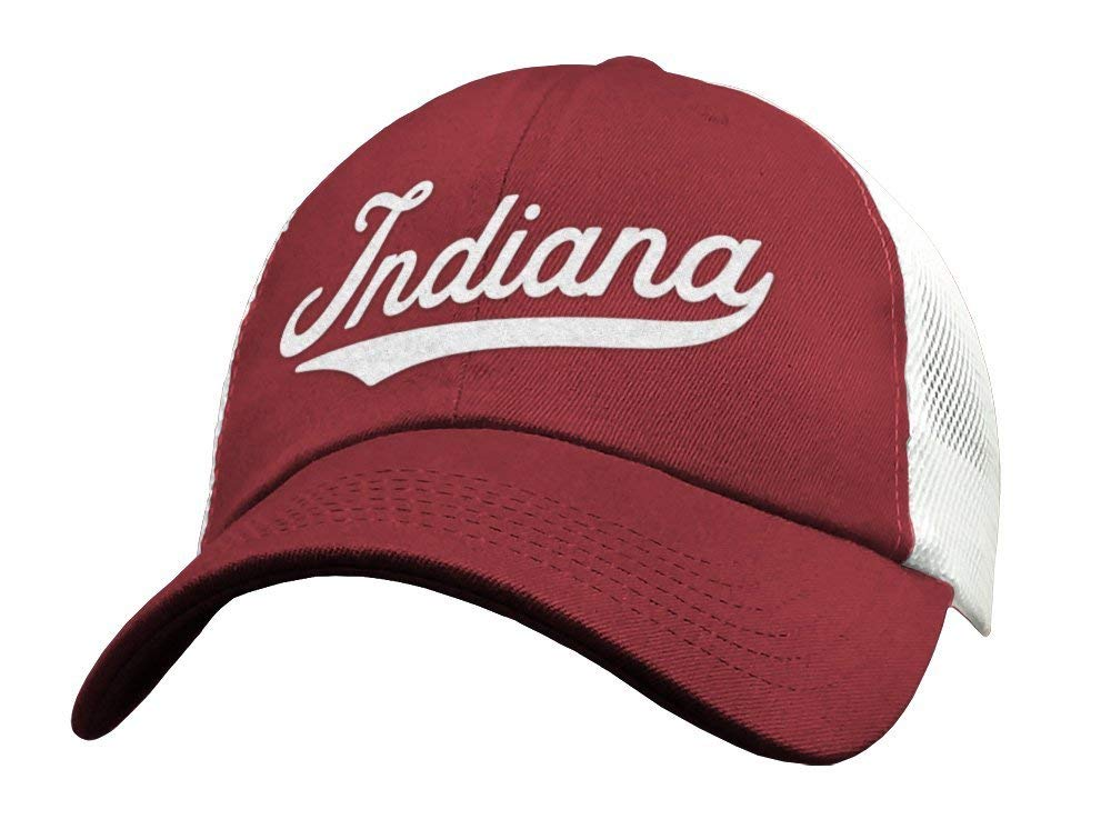 State of Today's only Indiana Baseball Hat Trucker Mesh - Sports Prof Max 66% OFF Low Cap