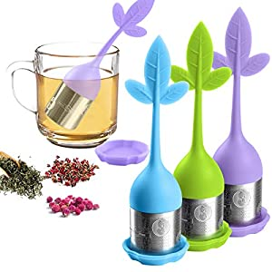 Infuseur à thé en vrac-La Passoire à thé pour pot de thé, Mug-filtre pour Infuser du thé en vrac position-pour bouteille, la Théière, tasses à thé, fenouil Thé Rooibos, thé, Tisane