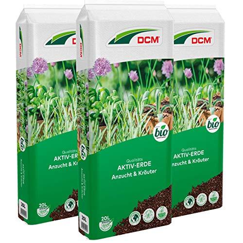 DCM-Cuxin Qualitäts Aktiv-Erde Anzucht & Kräuter, Aussaaterde, Sparpack 3 x 20 Liter