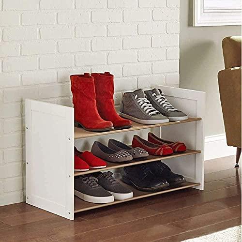 Equipo para el hogar Ensamblaje simple de Zapatero de hierro de múltiples capas Almacenamiento a prueba de polvo para el hogar Se puede apilar Taburete para cambiar zapatos (Color: Marrón Tamaño: 8