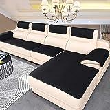 BK&MF Sofa Abdeckung Für Ledercouch, Super rutschfeste Sofa Dämpfung Couch überwurf Für Haustiere, Sofa Möbel Protector Separat Erhältlich-schwarz 60x76cm(24x30inch)