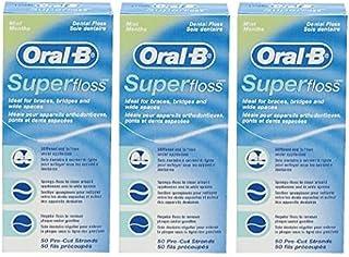 オーラルB スーパーフロス ミント Oral-B Super floss 50本 × 3個