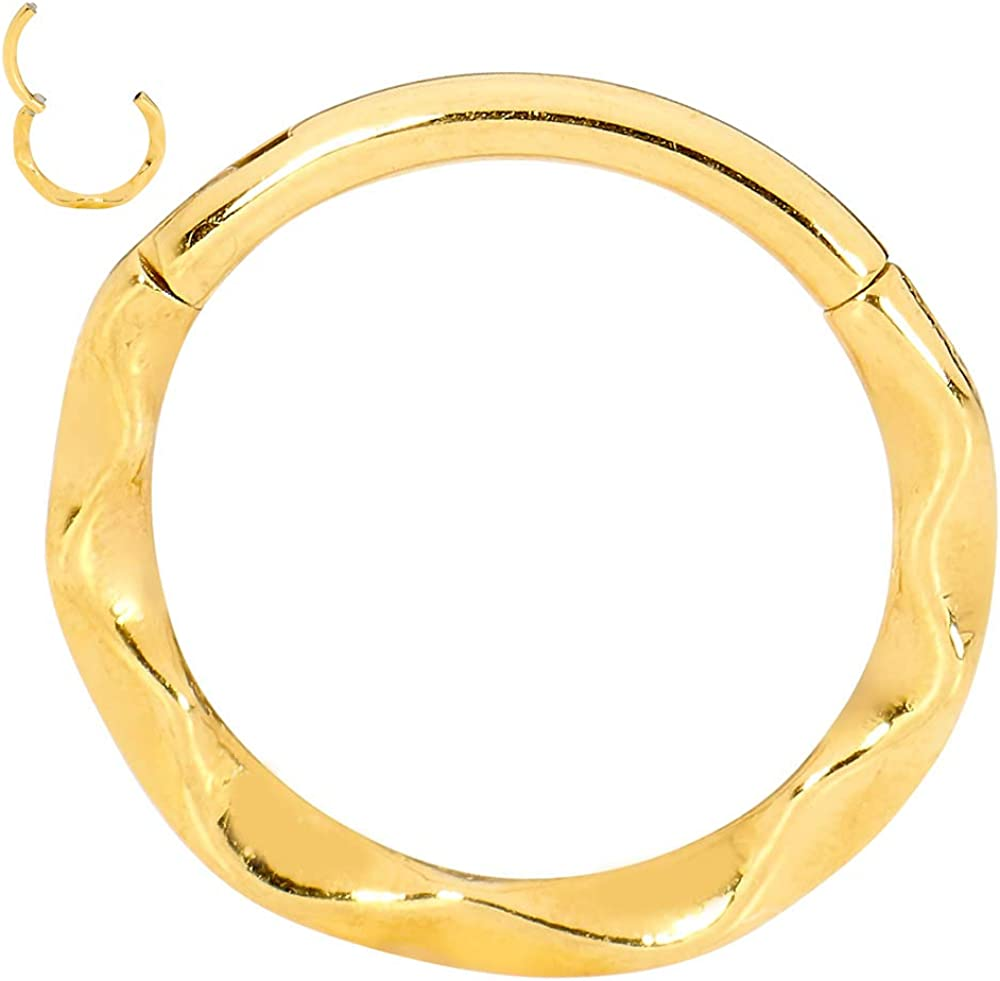 365 Sleepers 316L Seattle Mall Surgical Steel 16G B Ring Hinged Segment Twist online shopping