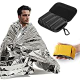 Verkstar Mylar Emergency Blankets, 4 Pack Extra Large Outdoor Thermal First Aid Foil Blanket -Designed for NASA, Hiking, Survival, Marathons, Camping and Car Use