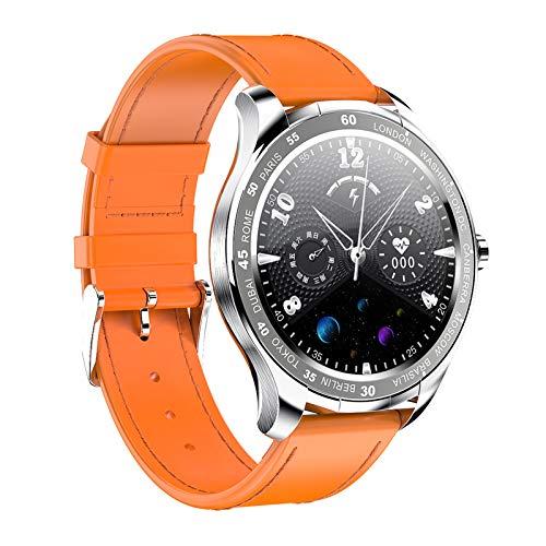 FMSBSC Smartwatch Mujer Hombre Reloj Inteligente Monitor de Sueño Pulsómetros, 10 Modos Deportivos Fitness Tracker,Naranja