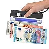 Detector de billetes falsos portátil lámpara de neón UV de bolsillo dinero falso