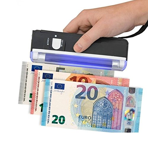 FAST WORLD SHOPPING Detector billetes falsos portátil lámpara Neon UV bolsillo monedero Falsi