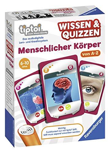 Ravensburger tiptoi 00753 Wissen und Quizzen: Menschlicher Körper, Quizspiel für Kinder ab 6 Jahren, für 1-6 Spieler
