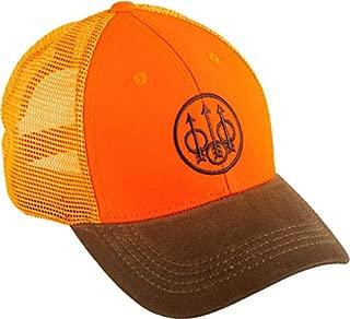 Upland Trucker Hat; Orange & Brown