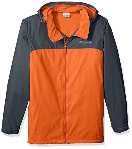 Columbia Men's Big and Tall Glennaker Lake Lined Rain Jacket, Heatwave, Graphite, 3XT