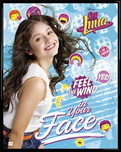 Soy Luna Póster Mini con Marco (Plástico) - Feel The Wind (50 x 40cm)