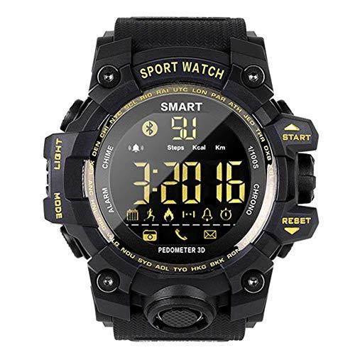 WRJY Reloj Deportivo Inteligente Relojes Militares multifunción para Exteriores 50M Reloj de Pulsera Bluetooth Resistente al Agua con Contador de Pasos Calorías Cronómetro Llamada SMS R