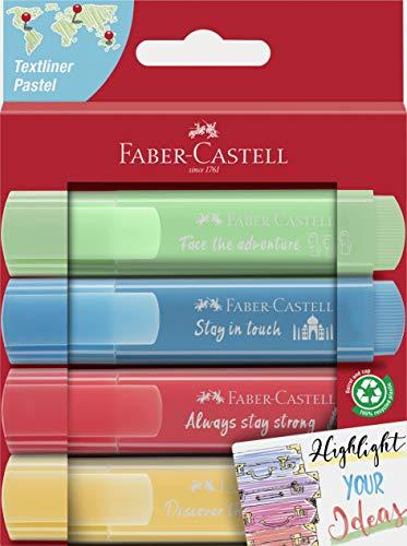 Faber-Castell 254625 - Textmarker TL 46, Pastell Promo, 4er Etui, 1 Stück