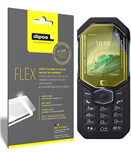 dipos I 3X Schutzfolie 100prozent kompatibel mit Crosscall Shark-X3 Folie (Vollständige Bildschirmabdeckung) Bildschirmschutzfolie
