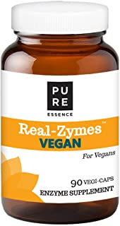 Real-Zymes™ Vegan Digestive Enzymes Supplement with Probiotics for Better Digestion - Natural Support for Relief of Bloating, Gas, Belching, Diarrhea, Constipation, IBS, etc. - 90 Caps