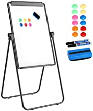 Topeakmart U-stand Whiteboard – 24 x 36 Inches Double-Sided Easel Stand, portable whiteboard easel with 1 Eraser, 2 Dry Erase Markers, 12 Magnet Discs for Office, Posters, Painting