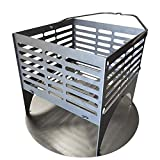 LavaLock DIY Charcoal Basket with ash pan for UDS BBQ Drum Smoker 12x12x12 Steel - Snap Together