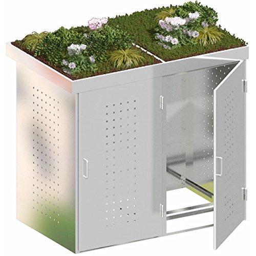 BINTO Mülltonnenbox Edelstahl, Müllbox System 12