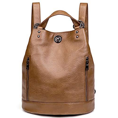Everfunny Frauen Retro Eimer Rucksack wasserdichte leichte weiche Leder Schulter Diagonal Tasche Frauen Geldtaschen Handtasche für Einkauf, Reisen
