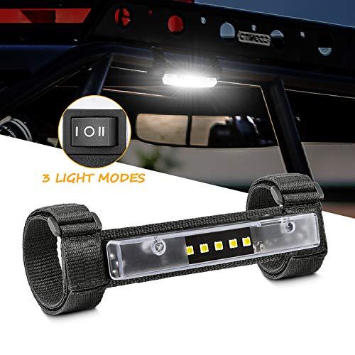 Niwaker UTV Interior Light Universal Roll Bar Mount for LED Light Interior Light Utility Roll Cage Light Courtesy Wraparound Light Dome Light for UTV ATV Polaris Truck Off Road - 3 Light Modes