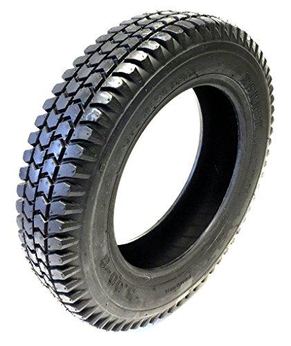 CST Rollstuhlreifen 3.00-8, 4PR, schwarz, kräftiges Blockprofil, Stabiler Reifenaufbau, Rollstuhl Reifen für Elektromobil, Scooter, E-Rollstuhl