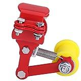 Broco Tensor Cadena Bicicleta, ajustadores Tensor de cadena Perno sobre rodillo Accesorios modificados para motocicleta Herramienta universal(rojo)