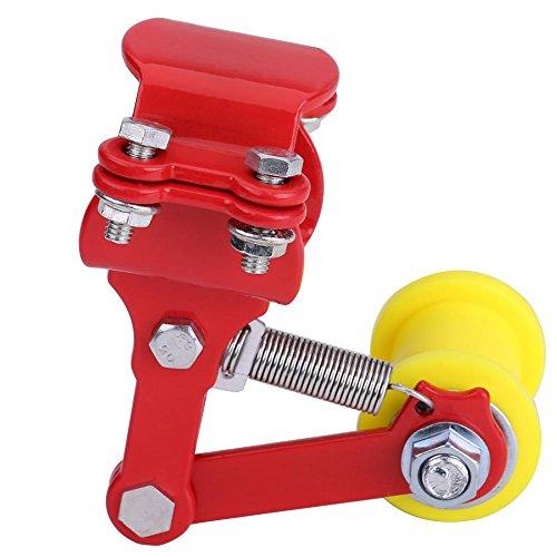 Reminnbor Tensor de Cadena, Ajustador Tensor de Cadena Perno en el Rodillo Motocicleta Accesorios Modificados Herramienta Universal(rojo)