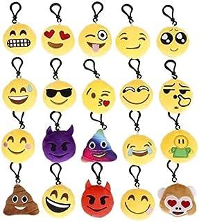 Porte Clé Emoji Emoji Porte-Clés Mini Emoji Porte-Clés 20 Pcs Mini Jouet En Peluche Pour Enfants Et Adulte Fêtes De Fête ...