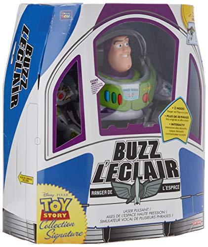 Lansay- Toy Story-Buzz l'Eclair Collection Signature Pixar 4 Figurine, 64511