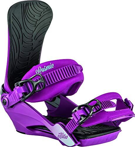 Nitro Snowboards Damen Cosmic '20 All Moutnain Freestyle günstig Bindung Snowboardbindung, Ultra Violet, S/M